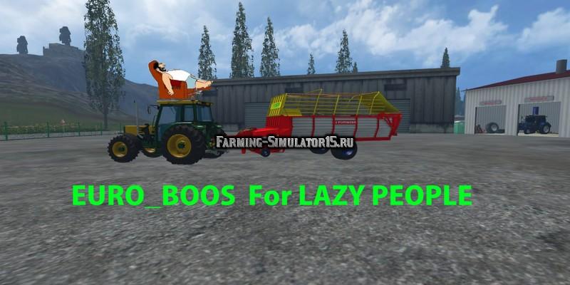Мод прицеп EuroBoss Poettinger For Lazy People v 1.0 Farming Simulator 2015