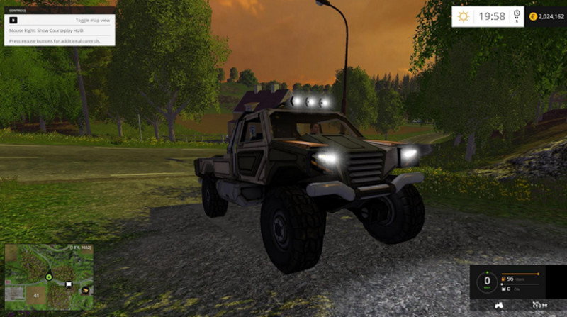 Мод авто Gekko Utility Vehilcle v 1.0 Farming Simulator 2015