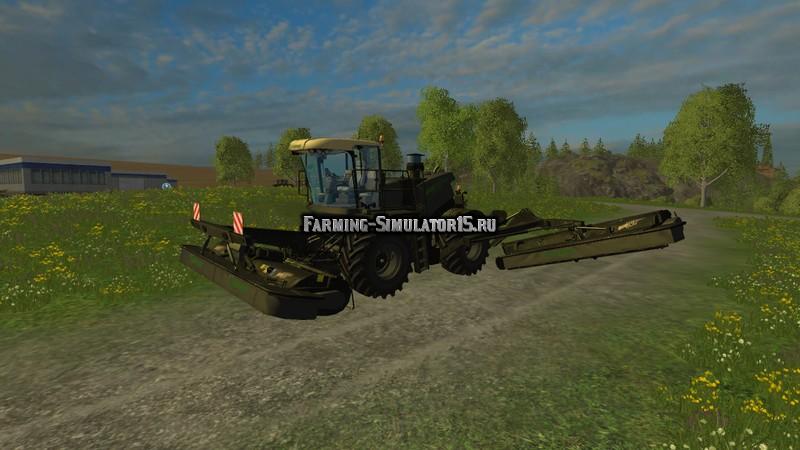 Мод косилка Krone BigM 500 Black v 1.2 Farming Simulator 15