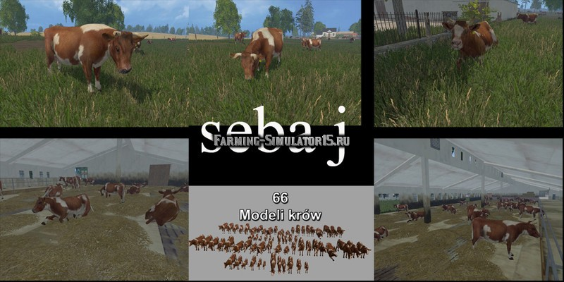 MODELS COWS v 1.0 Farming Simulator 2015