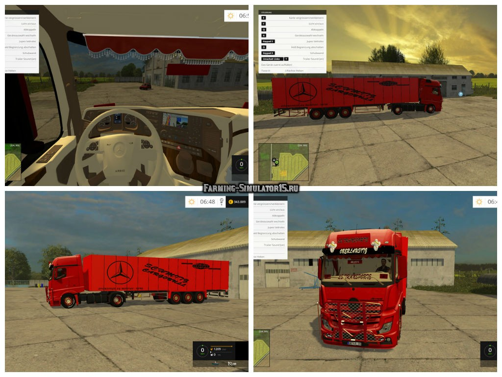 Мод грузовик Mercedes MP4 Tuning v 1.0 Farming Simulator 15