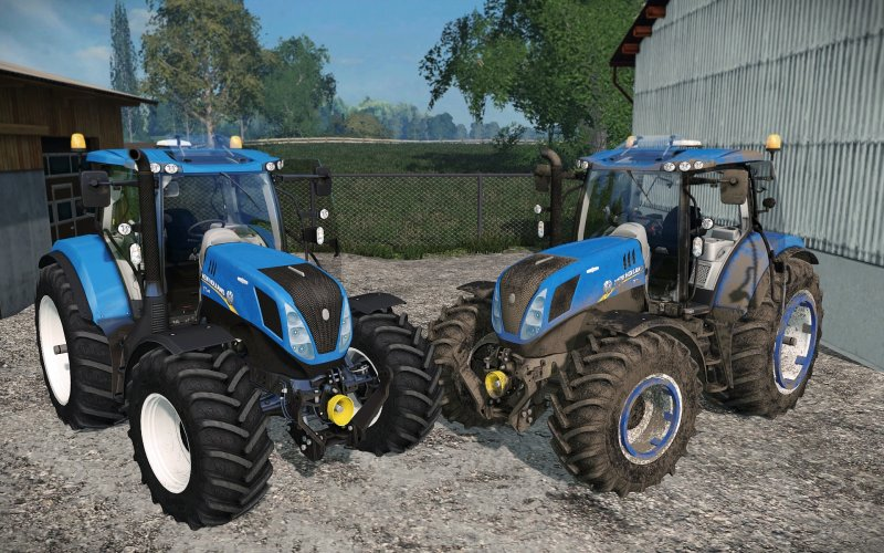 Мод трактор New Holland T7.240 v 1.0 Farming Simulator 2015