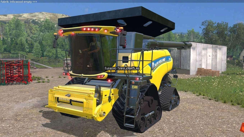 Мод комбайн New Holland CR10.90 v4.0 Farming Simulator 15
