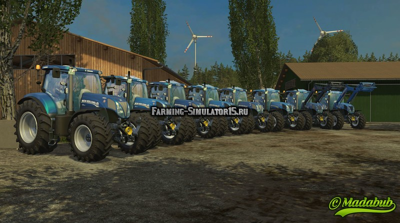 Мод трактора New Holland T7.170/185/200/210 v 1.0.1 Farming Simulator 15