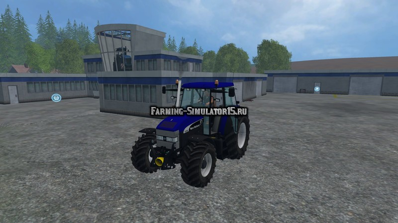 Мод трактор New Holland TM 190 Blue power v 1.0 Farming Simulator 2015