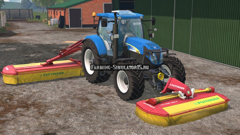 Мод газонокосилка Pottinger Mowerpack v 1.0 Farming Simulator 15