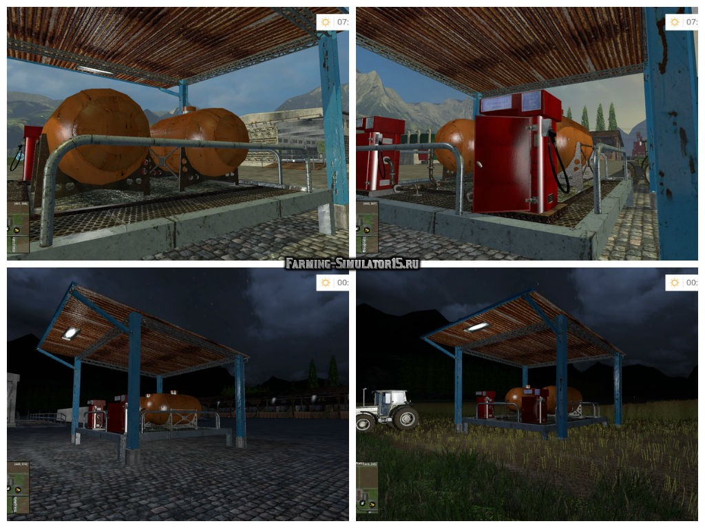 Мод АЗС Tanker Station v 1.2 Placeable Farming Simulator 2015