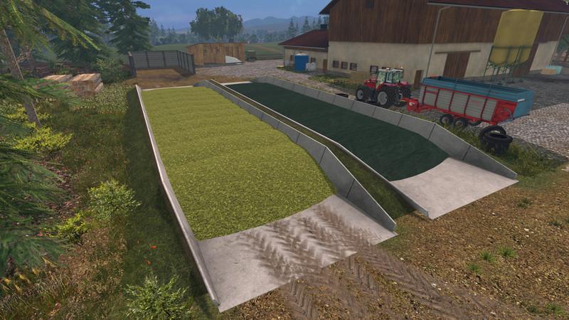 Мод силосные ямы Traunsteiner silos v 1.0 Farming Simulator 2015