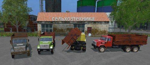 Мод грузовик ЗИЛ ZIL 4516 v 1.0 Фермер Симулятор 2015