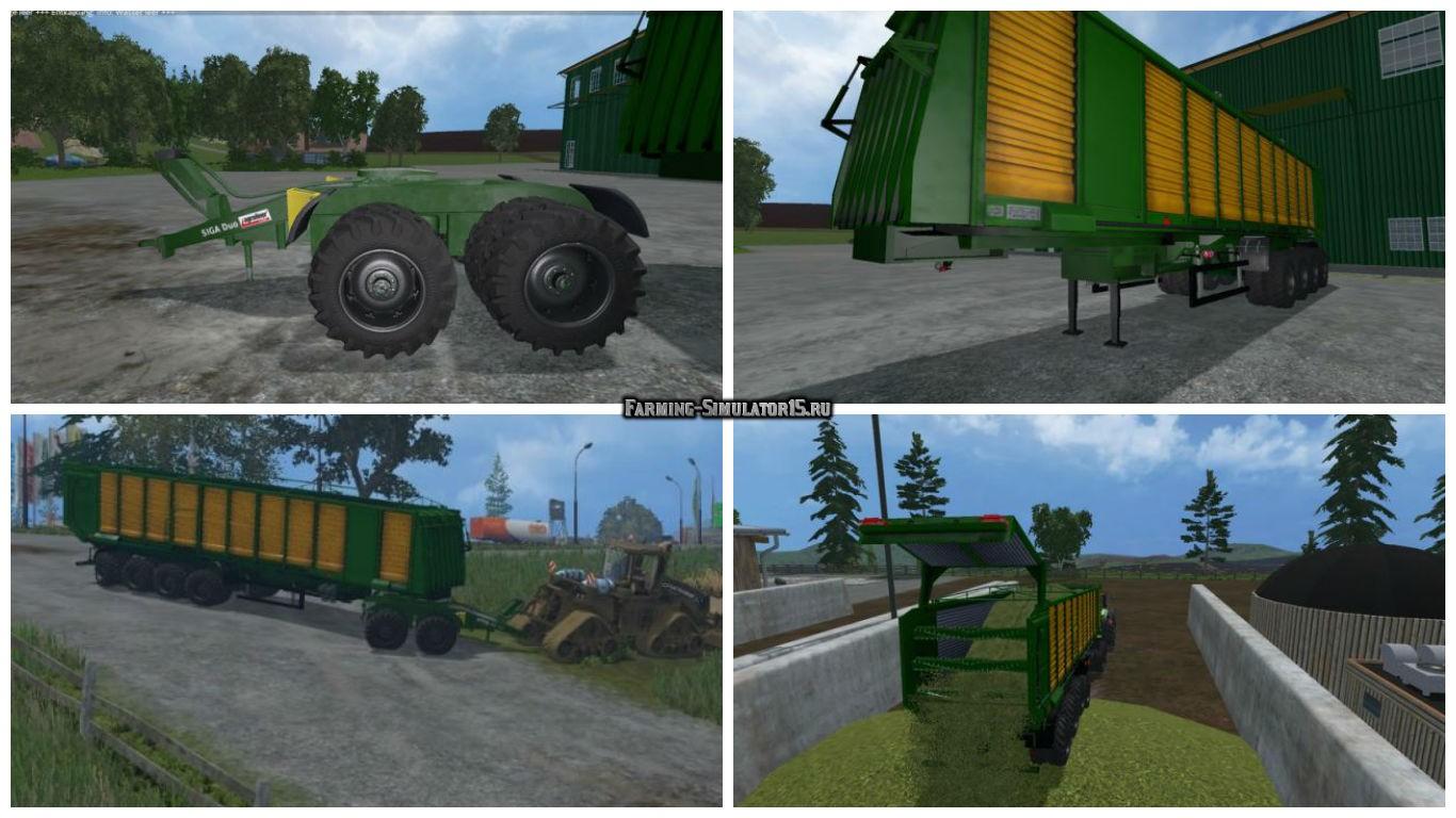 Мод прицеп MBJ chopped semitrailers v 1.1 Farming Simulator 15