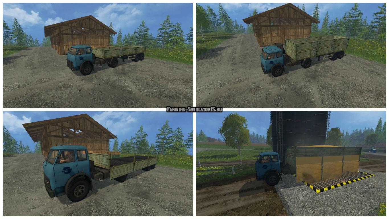 Мод тягач МАЗ-509 и прицеп Фермер Симулятор 2015