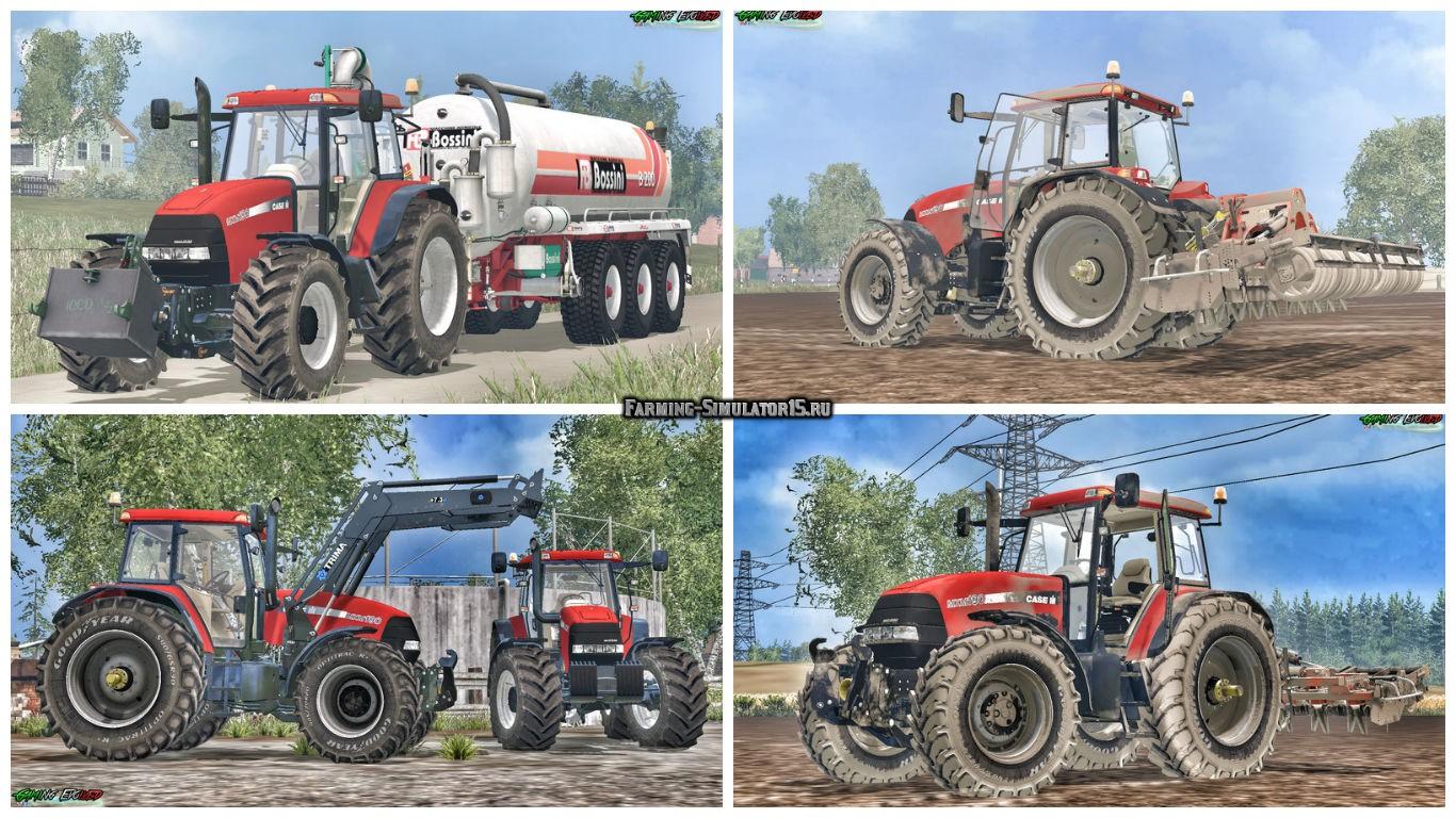 Мод трактор Case Maxxum 190 FW v 0.9 Alpha Farming Simulator 15