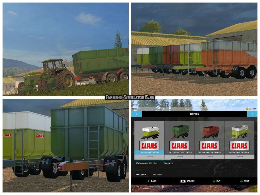 Мод прицепы Claas Carat 180TD Pack v 1.0.0 Farming Simulator 2015