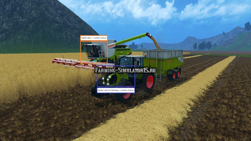 Мод скрипт Driving Light Extension v 1.1 Farming Simulator 15