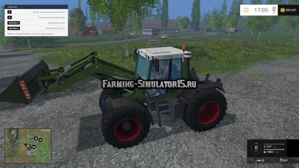 Мод трактор Fendt Xylon 524 Cargo FL v 4.0 Farming Simulator 15