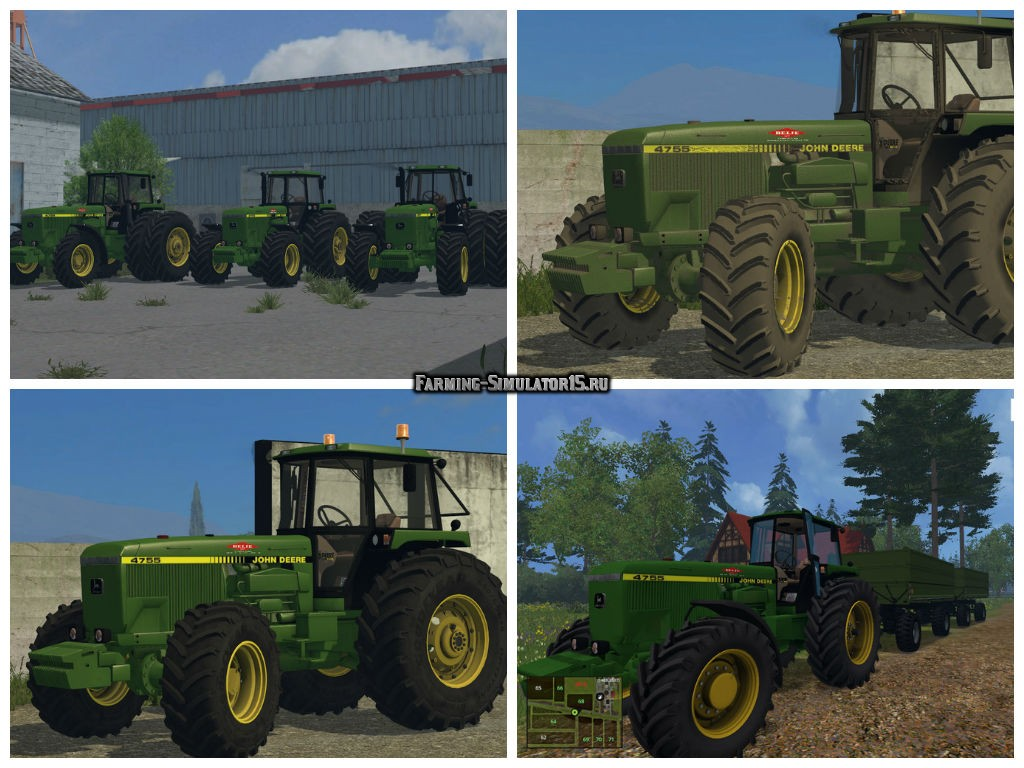 Мод трактор John Deere 4755 v 2.2 Farming Simulator 15