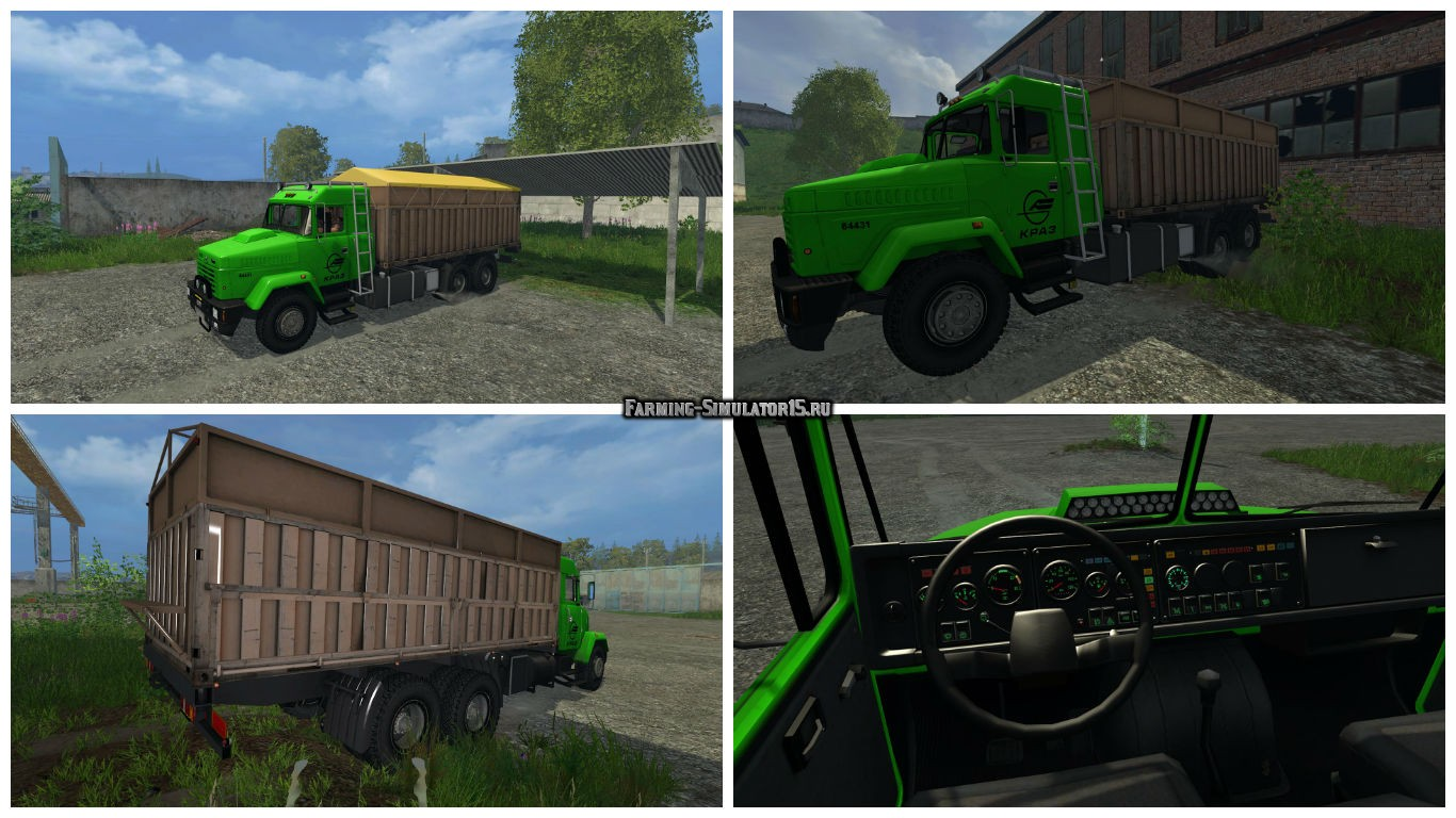 Мод грузовик Краз Kraz 64431 and Trailer v1.0 Фарминг Симулятор 2015