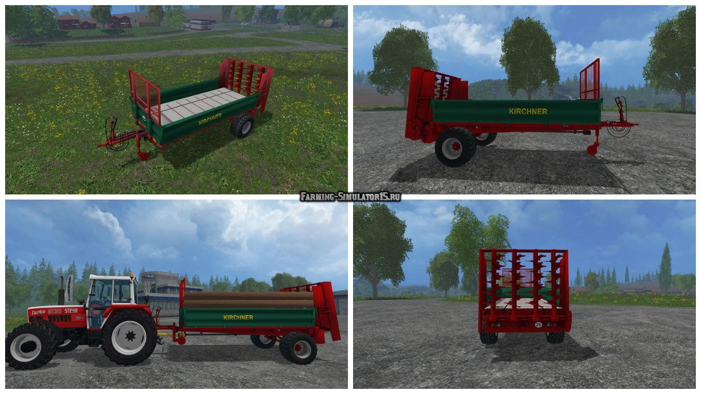 Мод прицеп Kirchner T3060 Miststreuer v 1.0 Farming Simulator 15
