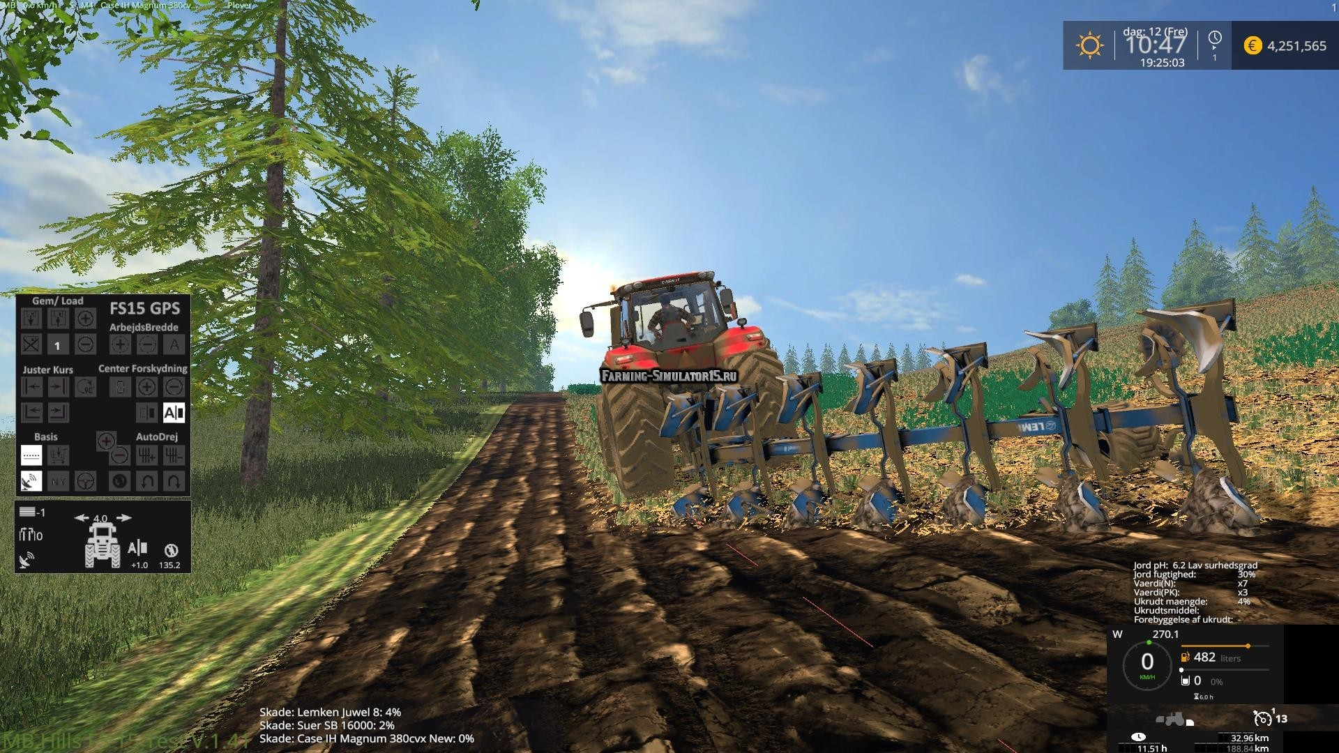 Мод плуг Lemken Juwel 8 v 1.02 Farming Simulator 2015