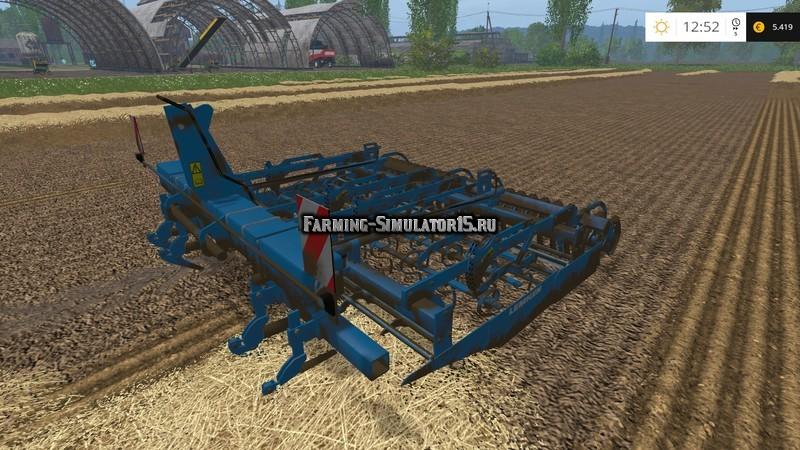 Мод культиватор Lemken Kompaktor S300 v 1.0 Farming Simulator 2015