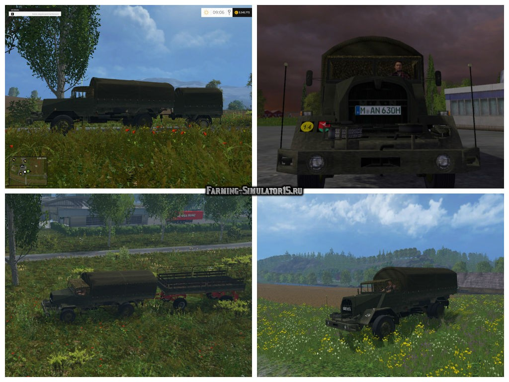 Мод грузовик MAN 630 LS v 1.0 Farming Simulator 2015