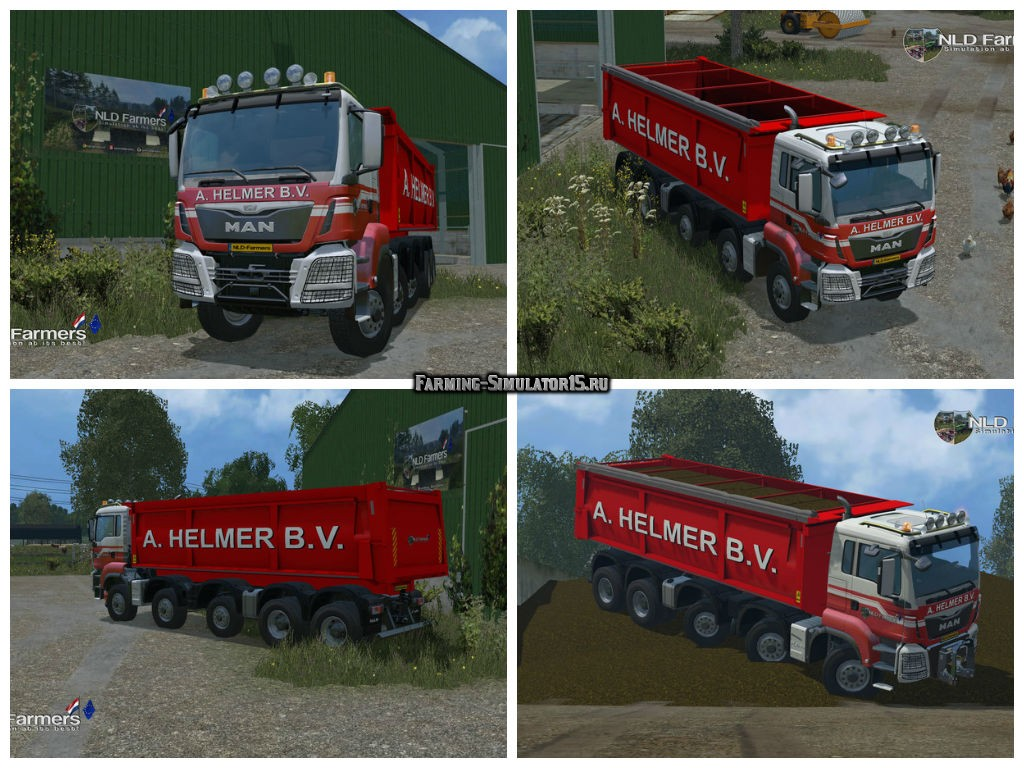 Мод грузовик MAN A Helmer B.V. v 1.0 Beta Farming Simulator 2015