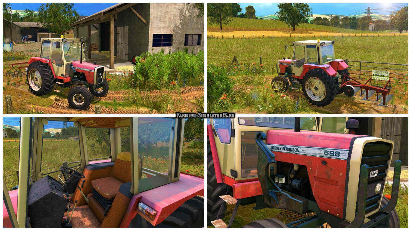 Мод трактор Massey Ferguson 698 Old Edition v 1.0 Farming Simulator 2015
