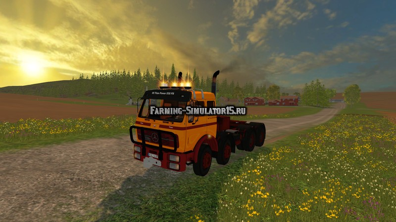 Мод грузовик Mercedes Benz 1632 Titan Heavy Duty 4 axle v 0.1 Beta Farming Simulator 2015