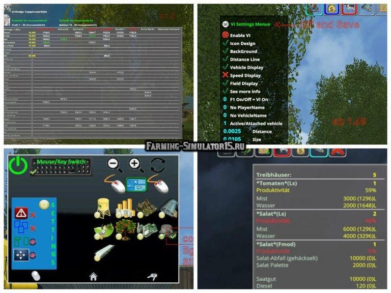 Мод скрипт MULTI OVERLAY HUD V2.4 RUS Farming Simulator 2015