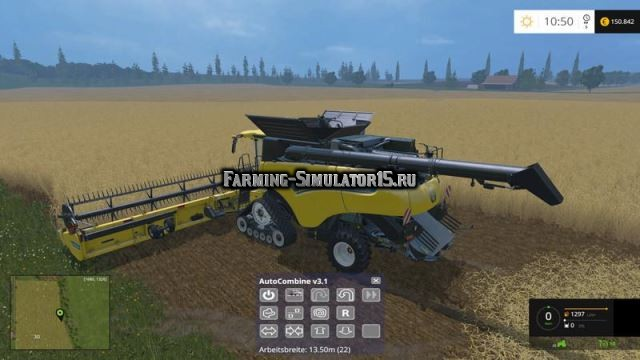 Мод скрипт AutoCombine v 4.1 Beta Farming Simulator 15