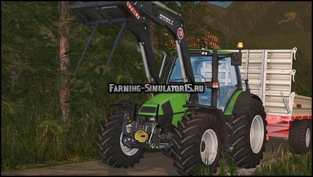 Мод трактор Deutz-Fahr Agrotron 120 MK3 FL v 1.0 Farming Simulator 2015