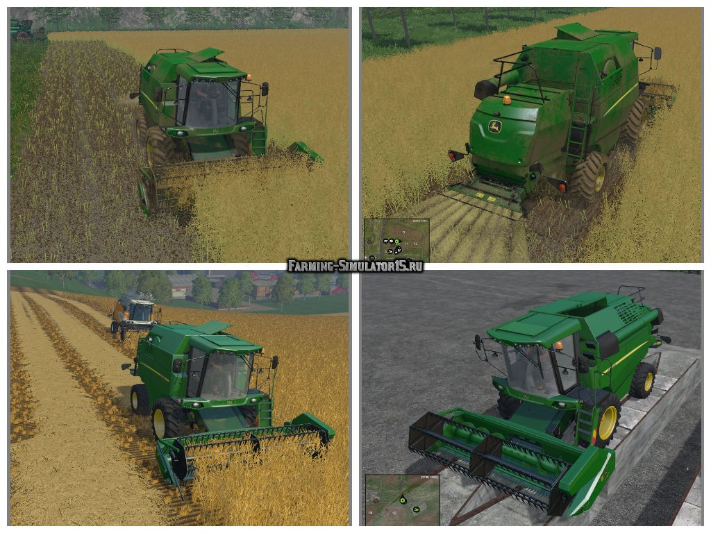 Мод комбайн JohnDeere W330 V1.2 Farming Simulator 15