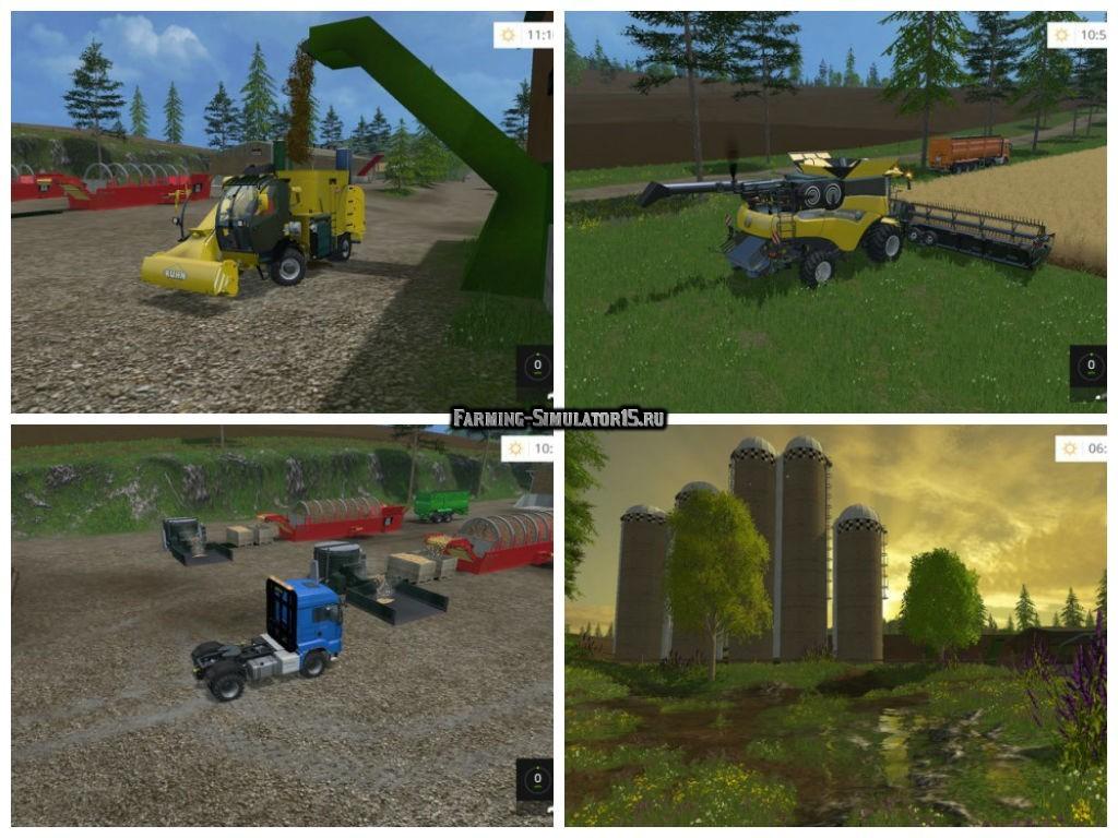 Мод карта Ringwoods v 4.0 RUS Farming Simulator 15