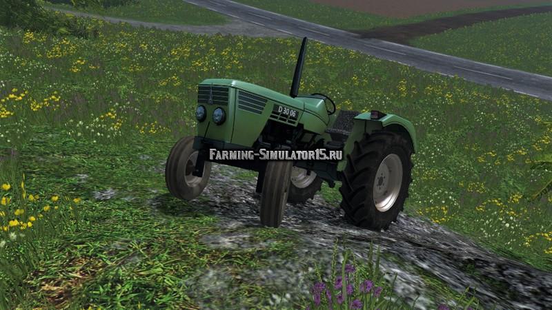 Мод трактор Deutz D3006 v 1.0 Farming Simulator 2015