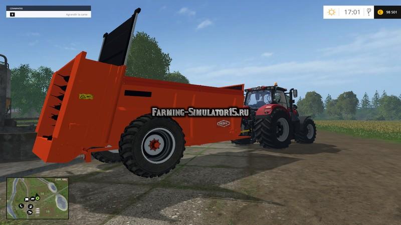 Мод прицеп Epandeur Orange verticaux v 1.0 Farming Simulator 15