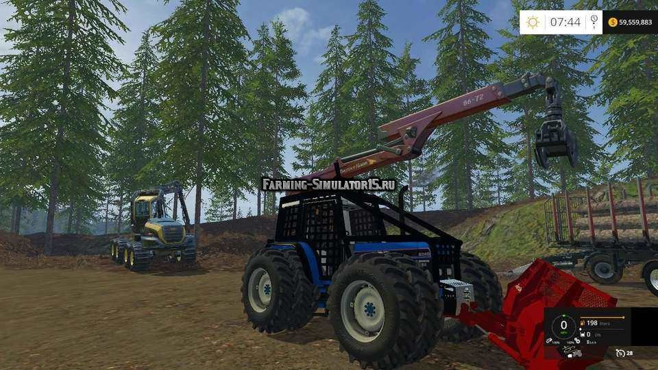 Мод трактор Ford 8340 Forest v 1.0 Farming Simulator 15