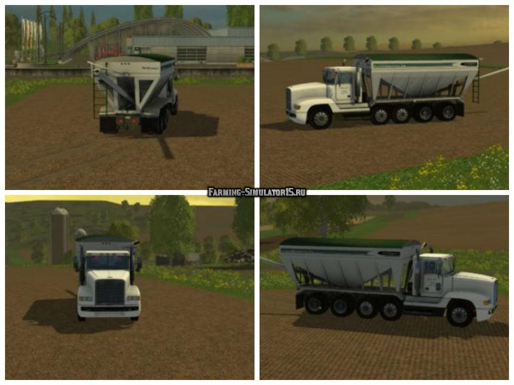 Мод грузовик Freightliner tender truck v 1.0 Farming Simulator 15
