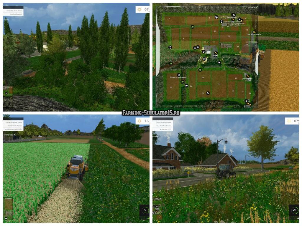 Мод карта Fazenda Pandora v 3.0 Farming Simulator 15