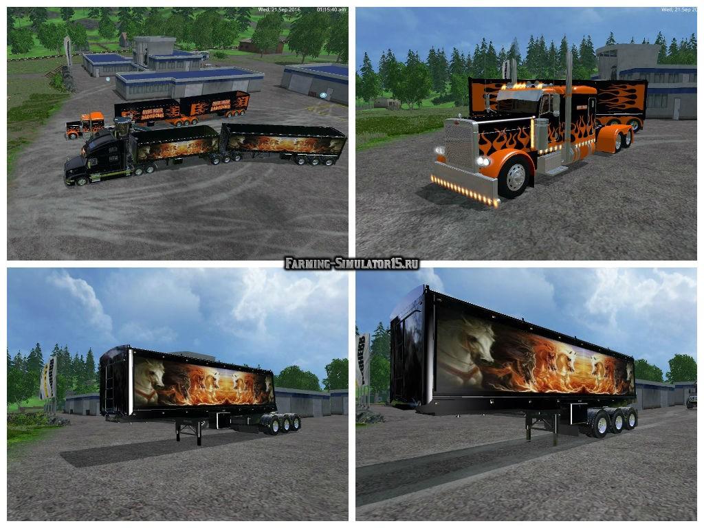 Мод прицепы и тягач Volvo Grave Digger v 1.0 Farming Simulator 15