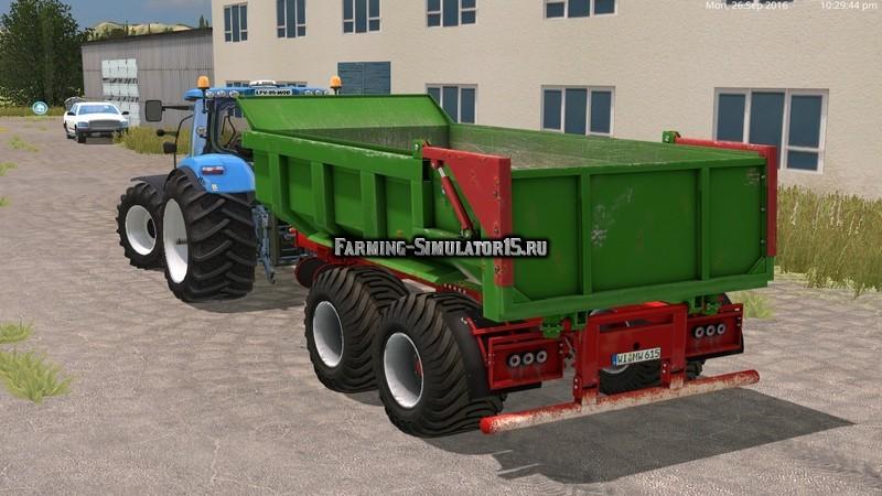 Мод прицеп Hilken HI2250SMK green/blue v 1.0 Wiht WheelShader Farming Simulator 15