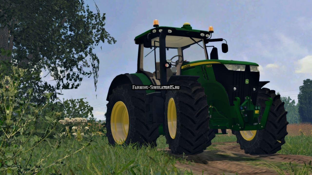 "Мод трактор John Deere 7310R v 4.0"" для Farming Simulator 15"