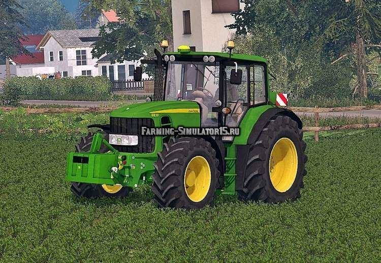 Мод трактор John Deere 6830 Premium Washable v 1.0 Farming Simulator 2015