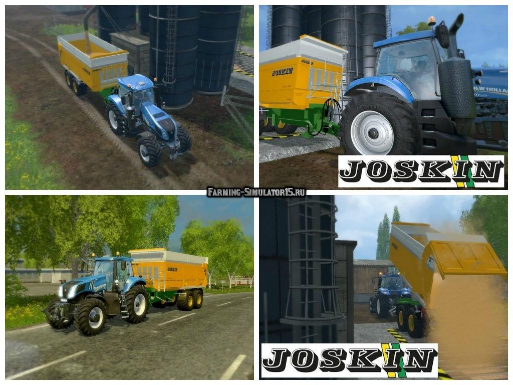 Мод прицеп Joskin Trans Space 7000/23 v 4.1 Farming Simulator 2015