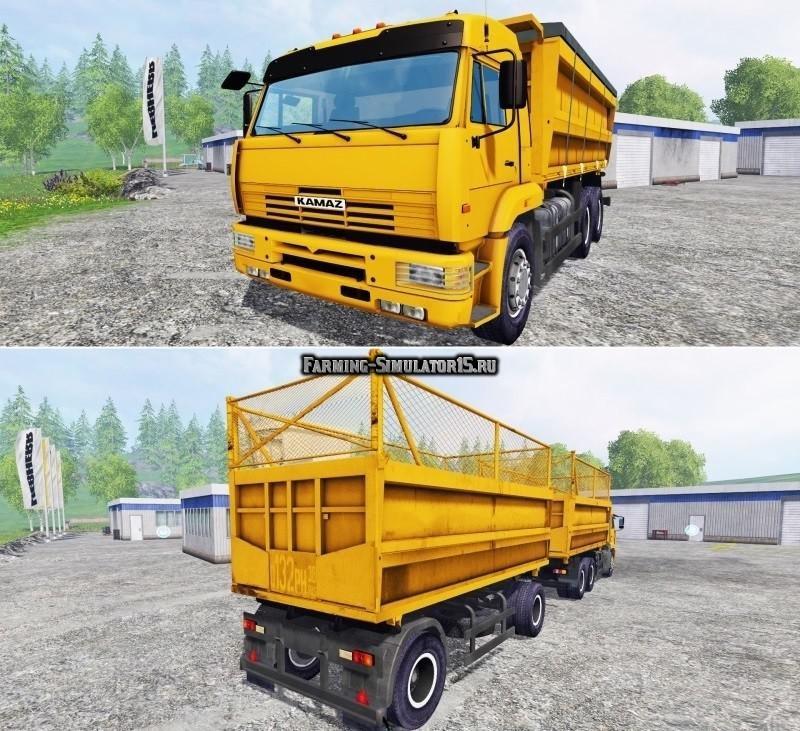 Мод грузовик КАМАЗ 45143 и прицеп Фермер Симулятор 2015