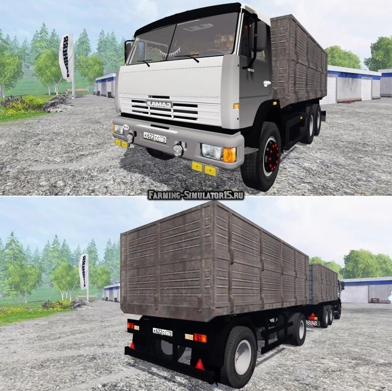Мод грузовик КАМАЗ 45143 Фермер Симулятор 2015