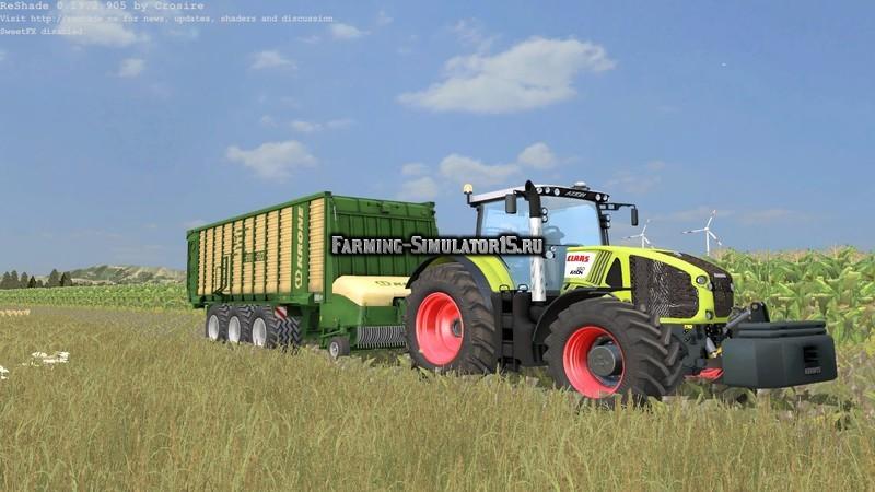 Мод прицеп Krone ZX 550GD v 1.0 WHEELSHADER Farming Simulator 15
