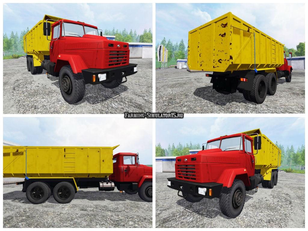 Мод грузовик Краз KrAZ 6130S4 v 1.0 Фермер Симулятор 2015