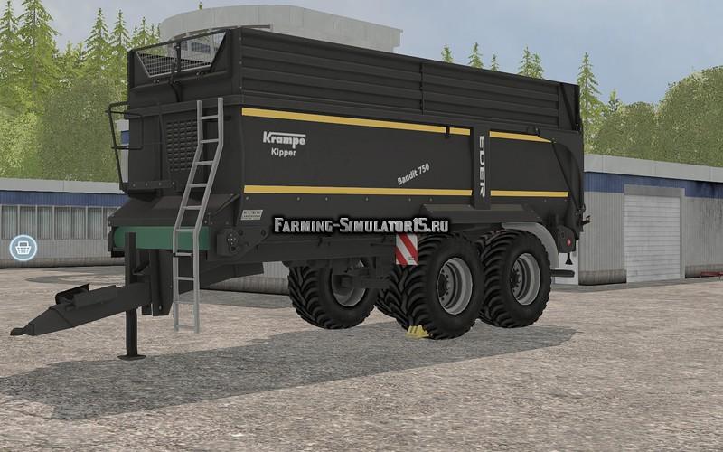 Мод прицеп Krampe Bandit 750 BB v 2.0 Farming Simulator 15