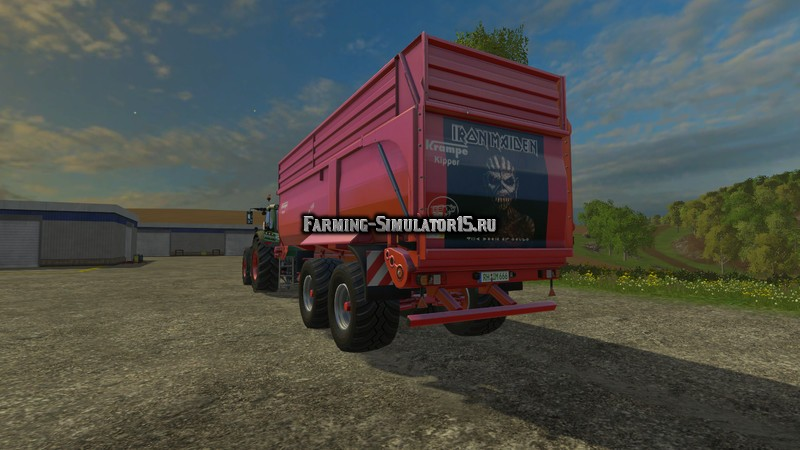 Мод прицеп Krampe Bandit 750 Iron Maiden Edition v 1.0 Farming Simulator 2015