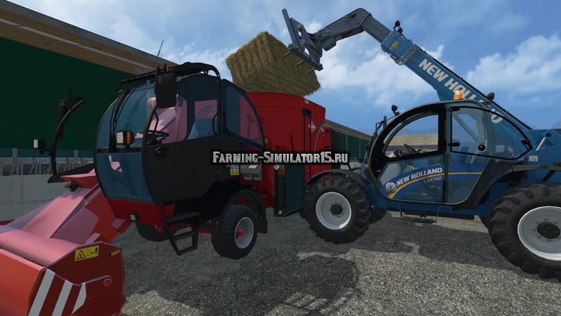 Мод кормораздатчик Kuhn SPV 12 with IC & extra Cams v 1.1 Farming Simulator 15